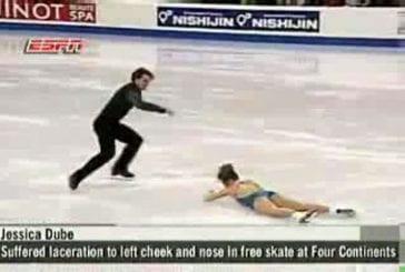Accident en patin à glace