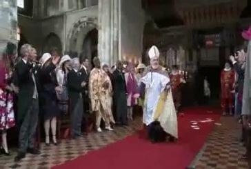 Exclu : Entree de William et Kate pour leur mariage