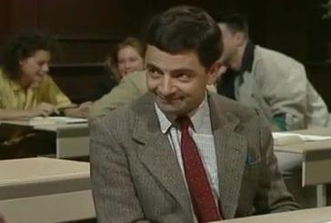 Mr Bean se prépare pour son examen