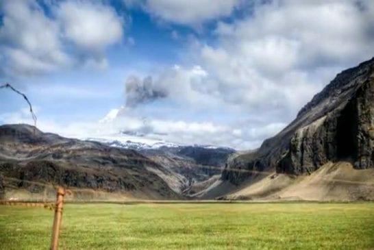 Volcan Islandais en Stopmotion eyjafjallajokull