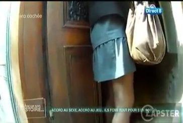 un fétichiste se ballade dans Paris filmé par une caméra !
