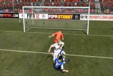 Une compilation des meilleurs bugs du nouveau Fifa 2012 sur Play-Station !