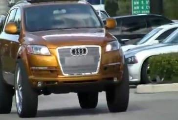 Une Audi Q7 se ballade dans les rues avec des jantes de 30 pouces !