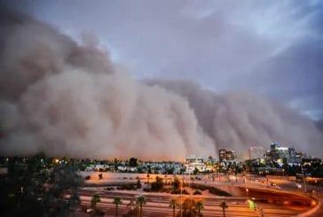 Une immense tempête de poussière