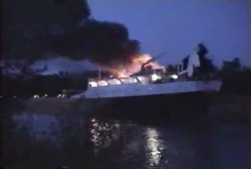 Un pont-levis détruit un paquebot