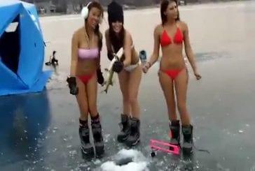 Pêcher en bikini !
