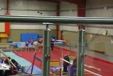 Une gymnaste très gracieuse...