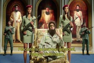 Félicitations officielles du Général Aladeen au nouveau prés