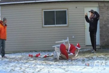 Un bière pong surprise de Noël