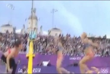 Les corps des athlètes en slowmotion