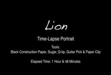 Un portrait de lion en sucre