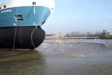 Mise à l'eau de bateaux gigantesques