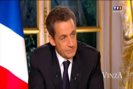 Nicolas Sarkozy annonce en direct qu il va quitter Carla Bruni VinzA