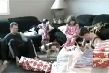 Un enfant frappe son père avec un lecteur DVD