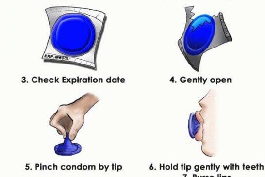 Comment placer un préservatif avec la bouche
