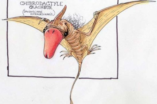 Dans la famille des dinosaures je demande le Chibrodactyle Cracheur