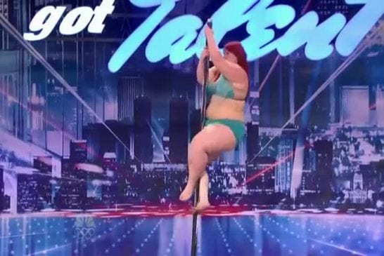 Big Girl Lulu Trying To Work The Pole On America s Got Talen