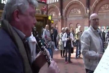 Flashmob à la gare centrale de Copenhague