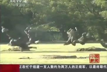 Exercice d'entraînement militaire Chinois