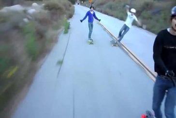 Jordan se crash en longboard à plus de 50km/h
