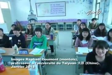 C'est les montois à l'université de Taiyuan en Chine