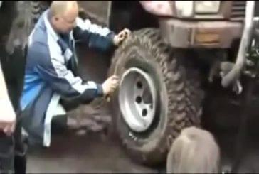 Gonfler un pneu avec le feu