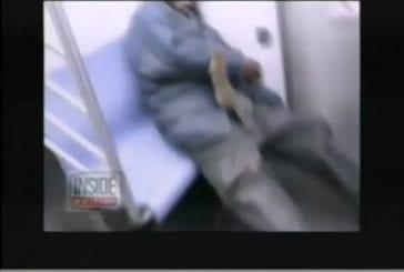 Saut chez le rat à l'homme dans le train nyc!