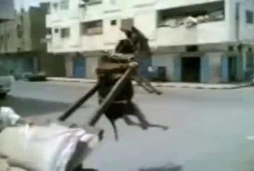 Une charrette trop chargée en Irak fait s'envoler un âne
