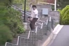Rampe d'escalier en roller