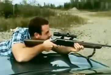 S'éclater un oeil en tirant à la carabine