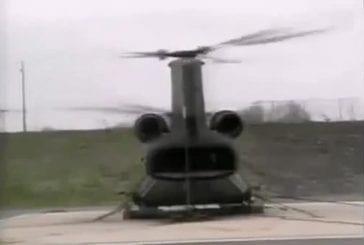 Test extrême d'un hélicoptère de l'armée