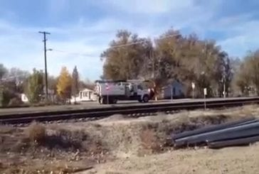 Train percute un camion citerne