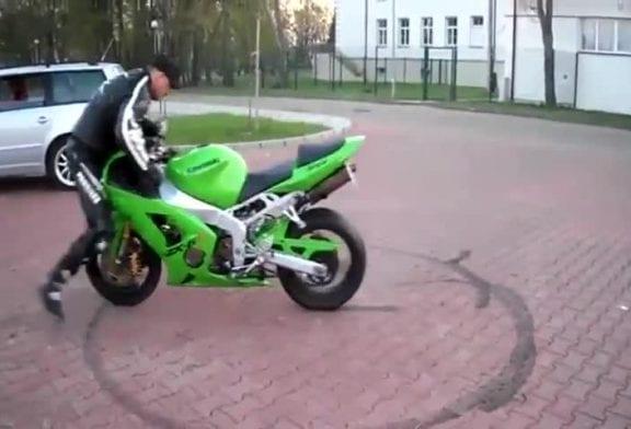 Cascade 360° en moto FAIL