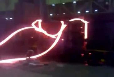 Accident dans un fabrique d'acier