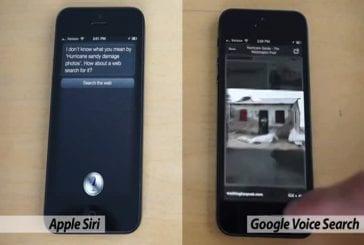 Recherche avec Siri d'Apple vs Google Voice