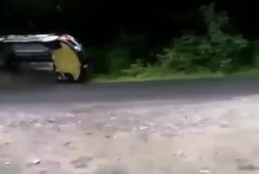 Eviter un terrible accident de rallye