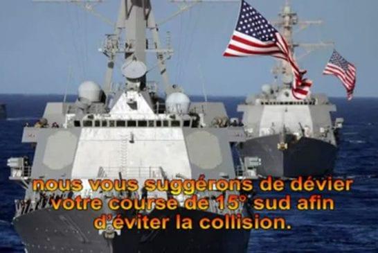 Echange radio entre un navire américain et espagnol