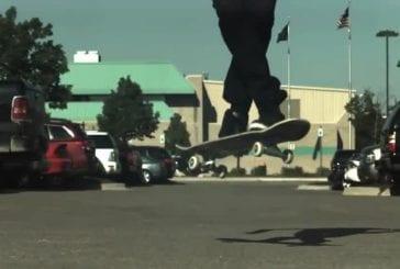 Skateboard en slow motion