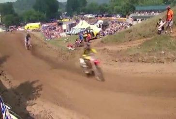 Chad Reed se crash durant son tour de chauffe de Moto-cross
