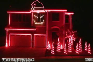 Christmas light show 2011