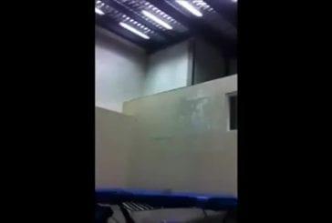 Trampoline sur un mur
