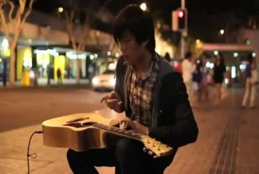 Guitariste talentueux de la rue