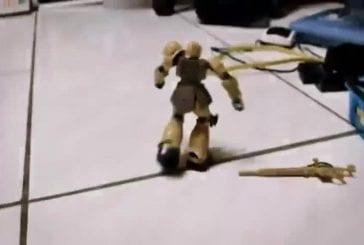 Bataille de robot en stop motion
