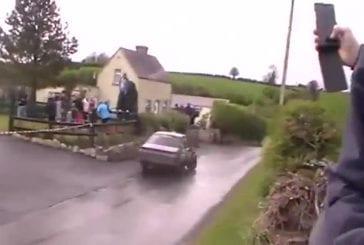 Un pilote de rallye vraiment chanceux