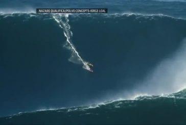Surfer sur une vague de 28 mètres