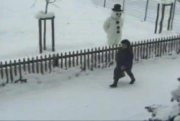 Blague du bonhomme de neige vivant