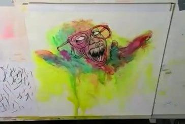 Alex Pardee peint très vite