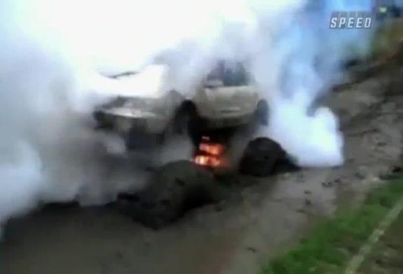 Faire exploser sa voiture dans la boue