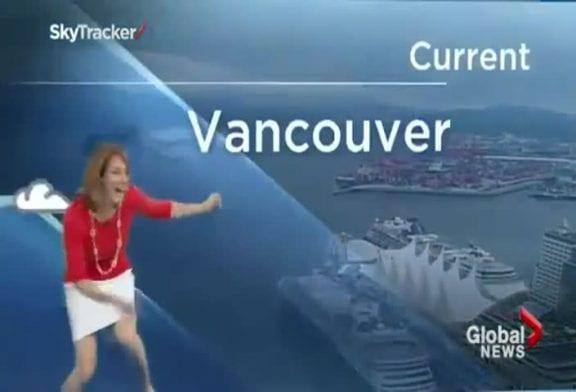 Caméra arraignée fait peur à la présentatrice météo