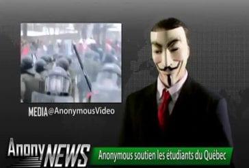 Anonymous soutien les étudiants du Québec